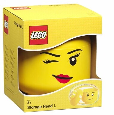 Room Copenhagen - Lego Large Winking Girl Storage Head