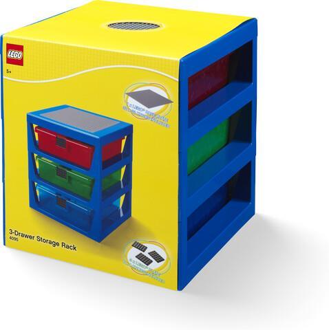 Room Copenhagen - Lego 3 Drawer Rack System Blue