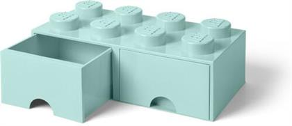 Room Copenhagen - Lego Brick Drawer 8 Knobs Aqua