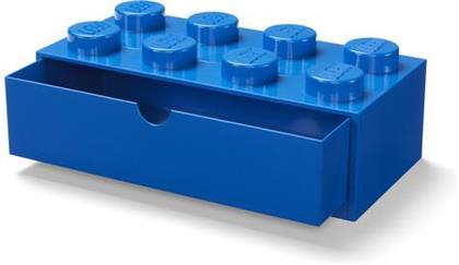 Room Copenhagen - Lego Desk Drawer 8 Knobs Blue
