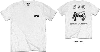 AC/DC Unisex Tee - About To Rock (Back Print/Retail Pack)