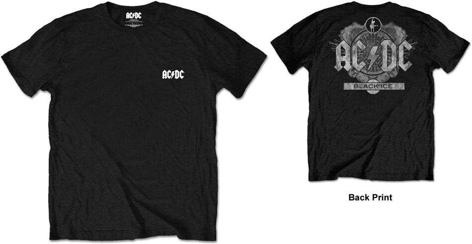 AC/DC Unisex Tee - Black Ice (Back Print/Retail Pack) - Grösse M