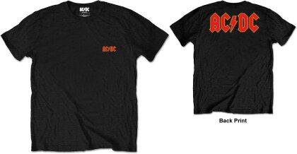 AC/DC Unisex Tee - Logo (Back Print/Retail Pack)