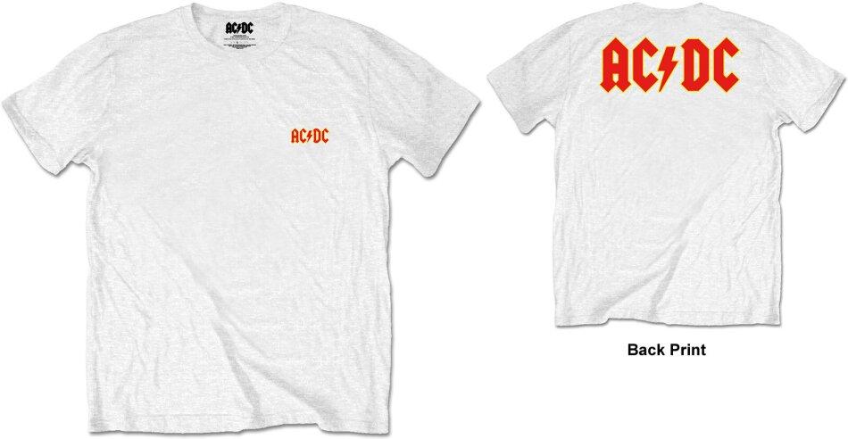 AC/DC Unisex Tee - Logo (Back Print/Retail Pack) - Grösse M