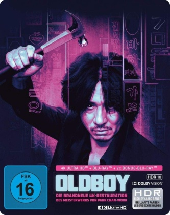Oldboy (2003) (Limited Edition, Steelbook, 4K Ultra HD + 2 Blu-rays)