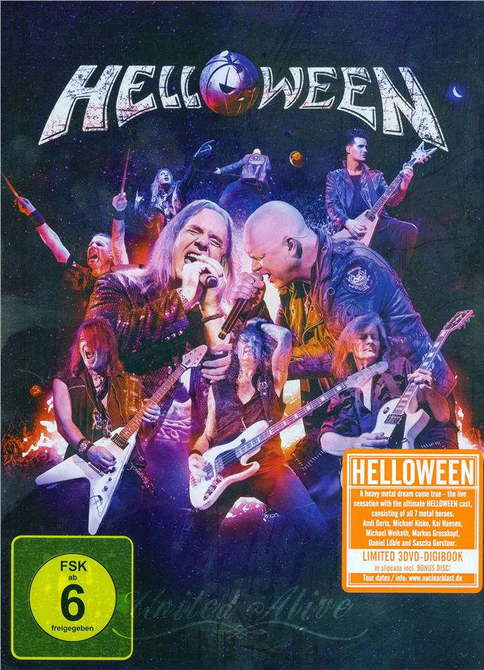 Helloween - United Alive (Digipack, Schuber, Limited Edition, 3 DVDs)