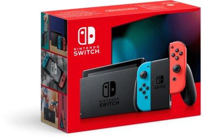 Nintendo Switch Konsole neonrot - (neues Model mit mehr Akkuzeit)