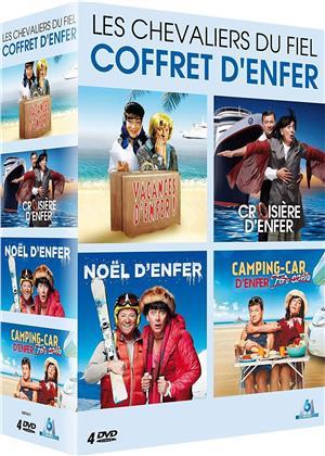 Les Chevaliers du Fiel - Coffret d'enfer : Vacances d'enfer / Croisière d'enfer / Noël d'enfer / Camping-car Forever (4 DVDs)