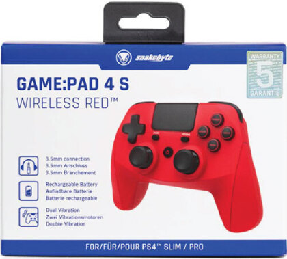 PS4 Controller Game:Pad 4S wirel. red Snakebyte Bluetooth
