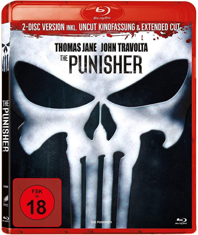 The Punisher (2004) (Extended Cut, Uncut, 2 Blu-rays)