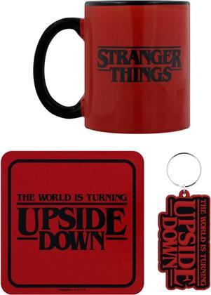 Stranger Things - The World Is Turning Upside Down - Mug, Coaster And Keychain Set