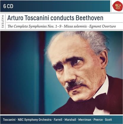 Arturo Toscanini & Ludwig van Beethoven (1770-1827) - Conducts Beethoven (6 CDs)