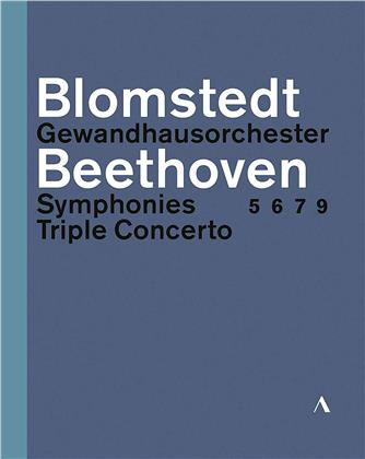 Gewandhaus Orchester Leipzig, Herbert Blomstedt & Isabelle Faust - Beethoven - Symphonies 5, 6, 7, 9 / Triple Concerto (Accentus Music, 3 Blu-rays)