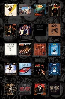 AC/DC Textile Poster - Albums