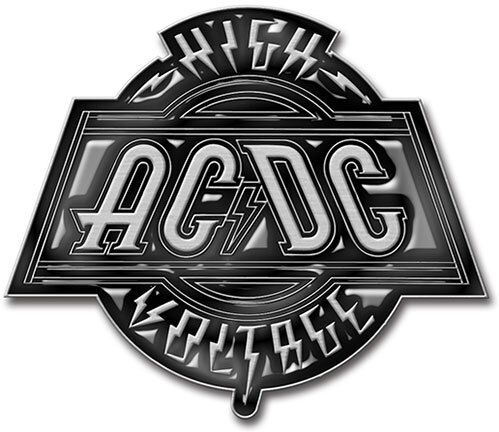 AC/DC Pin Badge - High Voltage