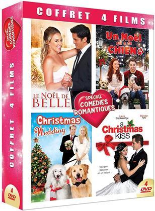 Coffret 4 Films Spécial Comédies Romantiques - Le Noël de Belle / Un Noël qui a du chien / Christmas Wedding / A Christmas Kiss (4 DVDs)