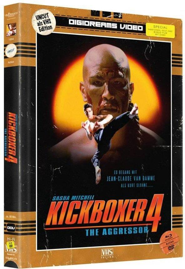 Kickboxer 4 - The Aggressor (VHS-Edition, Limited Edition, Mediabook, Uncut, 2 Blu-rays + 2 DVDs)