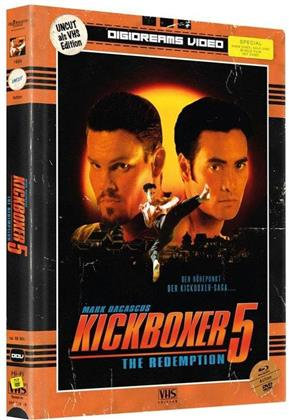 Kickboxer 5 - The Redemption (1995) (VHS-Edition, Limited Edition, Mediabook, Uncut, 2 Blu-rays + 2 DVDs)