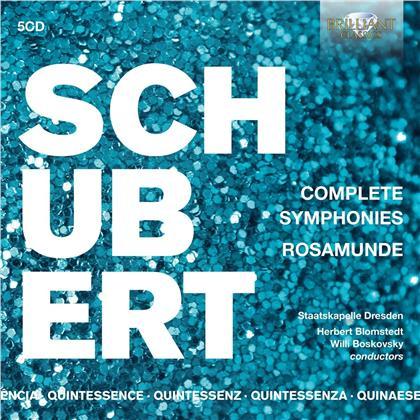 Herbert Blomstedt, Staatskappelle Dresden & Franz Schubert (1797-1828) - Complete Symphonies (Quintessence, 5 CDs)