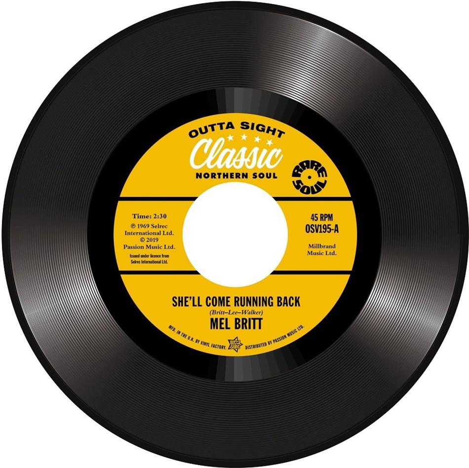 "Mel Britt & Cecil Washington - She'll Come Running Back / I Don't Like To Lose (7"" Single)"