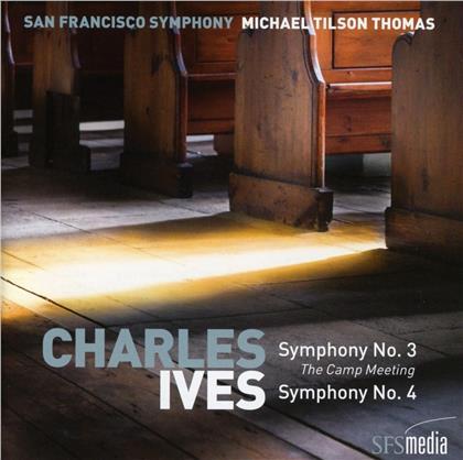 Michael Tilson Thomas, San Francisco Symphony & Charles Ives (1874-1954) - Symphonien Nr. 3 & 4 (SACD)