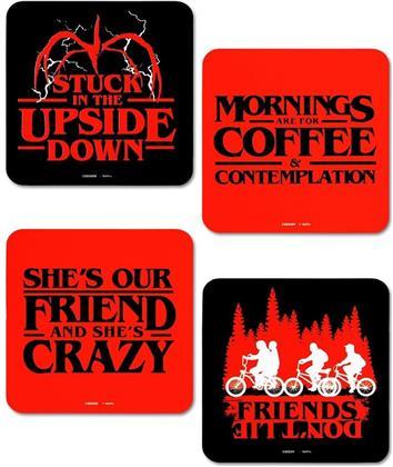 Stranger Things (Phrases) 4 Coaster Set