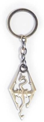 Porte clef Métal - Logo - The Elder Scrolls : Skyrim - 4 cm