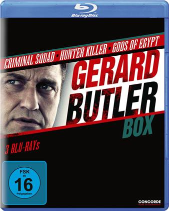 Gerard Butler Box - Criminal Squad / Hunter Killer / Gods of Egypt (3 Blu-rays)