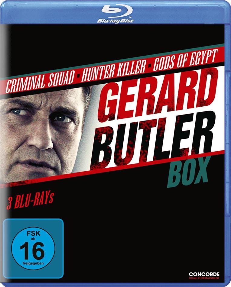 Gerard Butler Box - Criminal Squad / Hunter Killer / Gods of Egypt (3 Blu-rays)