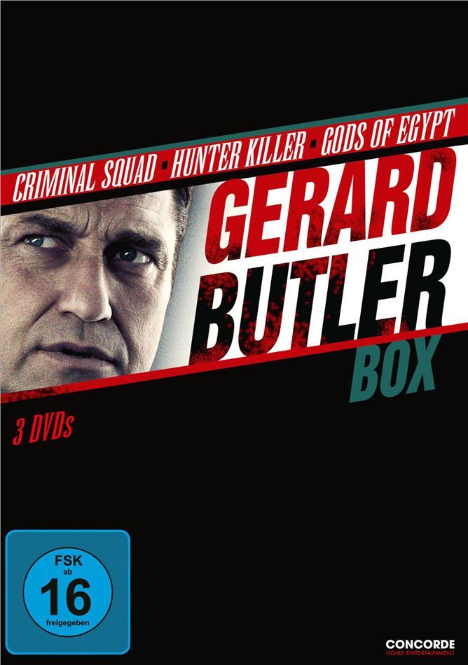 Gerard Butler Box - Criminal Squad / Hunter Killer / Gods of Egypt (3 DVDs)