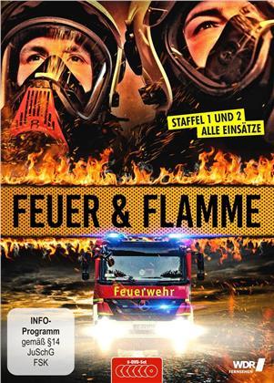 Feuer und Flamme - Mit Feuerwehrmännern im Einsatz - Staffel 1 + 2 (6 DVDs)
