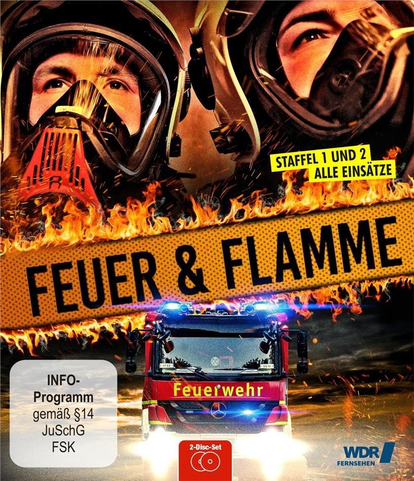 Feuer und Flamme - Mit Feuerwehrmännern im Einsatz - Staffel 1 + 2 (2 Blu-rays)