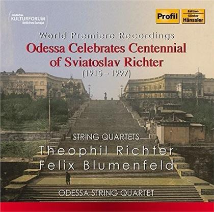 Odessa String Quartet, Theophil Richter (1872-1941) & Felix Mikhailovich Blumenfeld (1863-1931) - String Quartets - Odessa Celebrates Centennial of Sviatoslav Richter