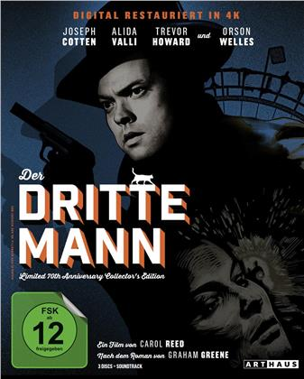 Der dritte Mann (1949) (70th Anniversary Edition, Collector's Edition, Blu-ray + 2 DVDs + CD)