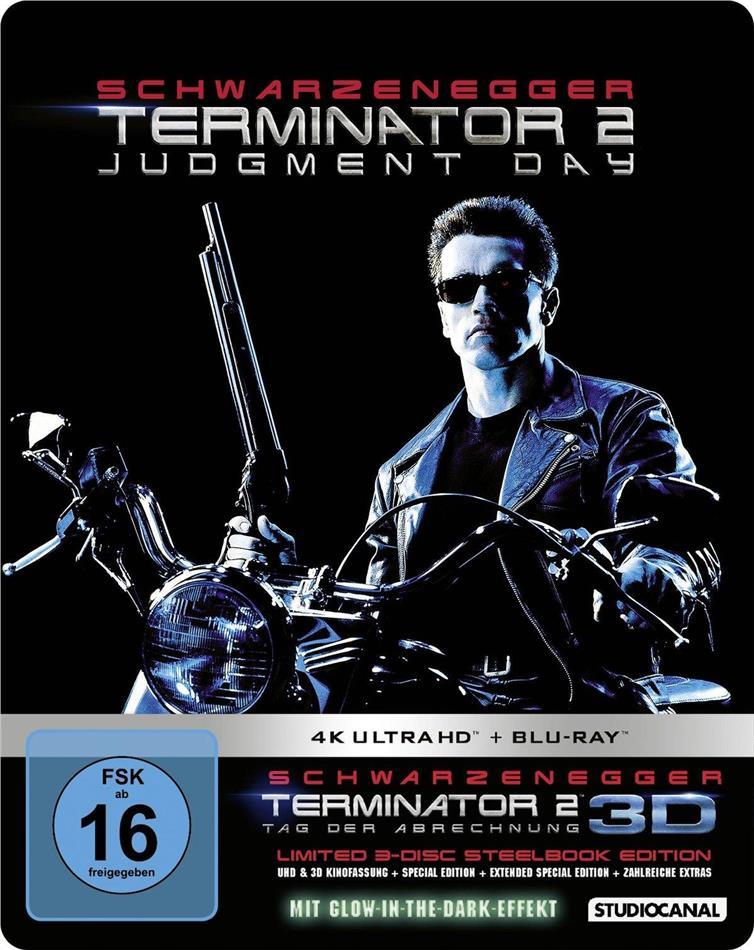 Terminator 2 (1991) (Limited Edition, Steelbook, 4K Ultra HD + Blu-ray 3D + Blu-ray)