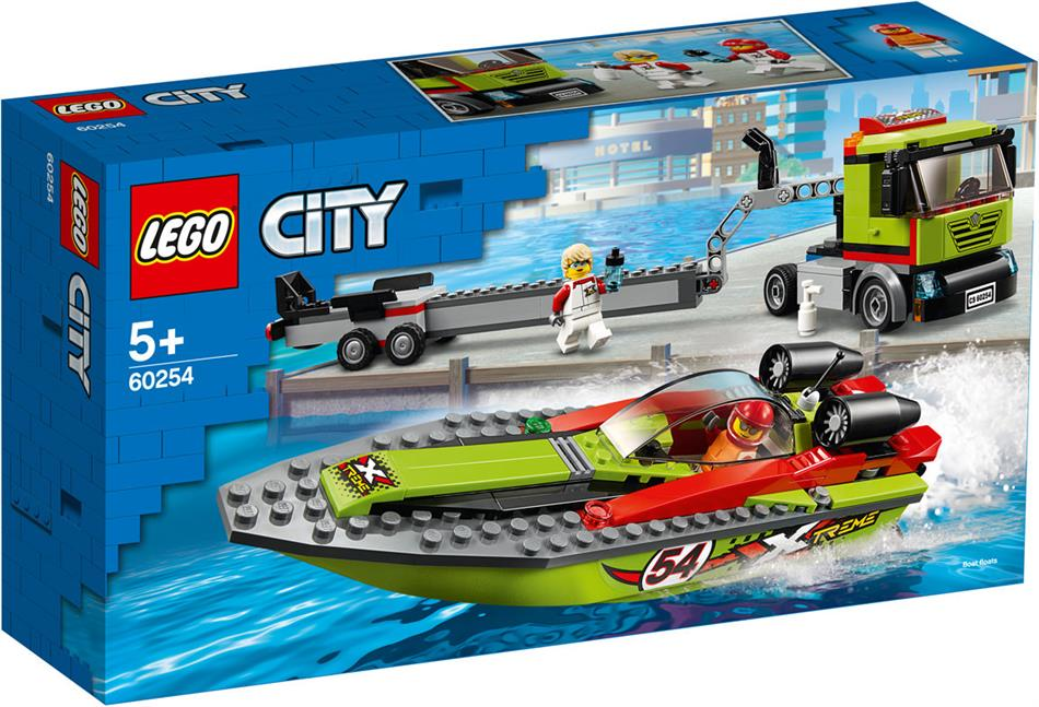 Rennboot-Transporter - Lego City, 238 Teile,