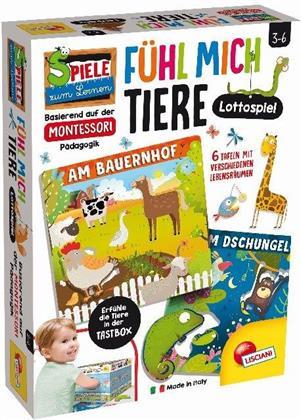 Montessori PLUS Tiere Lottospiel - Erfühle die Tiere in der Tastbox