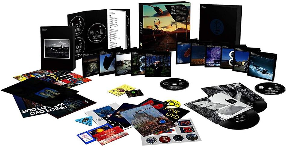 "Pink Floyd - The Later Years (1987-2019) (Boxset, Sony Legacy, 5 CDs + 6 Blu-rays + 5 DVDs + 2 7"" Singles + Book)"