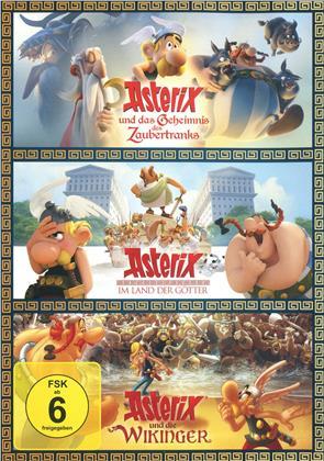 Asterix und das Geheimnis des Zaubertranks / Asterix im Land der Götter / Asterix und die Wikinger (3 DVD)