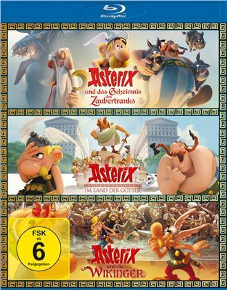 Asterix und das Geheimnis des Zaubertranks / Asterix im Land der Götter / Asterix und die Wikinger (3 Blu-ray)