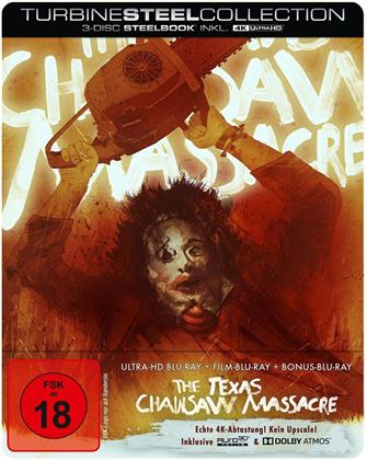 The Texas Chainsaw Massacre (1974) (Turbine Steel Collection, Edizione Limitata, Steelbook, 4K Ultra HD + 2 Blu-ray)