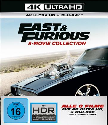 Fast & Furious 1-8 - 8-Movie Collection (8 4K Ultra HDs + 9 Blu-rays)