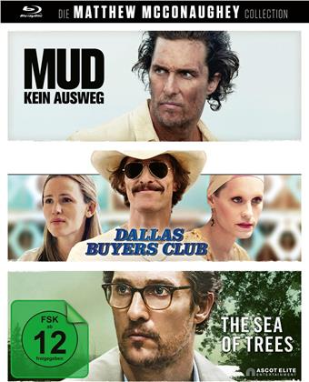 Die Matthew McConaughey Collection - Mud - Kein Ausweg / Dallas Buyers Club / The Sea of Trees (3 Blu-rays)