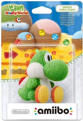 amiibo Yoshi`s Woolly World Character - Yarn Yoshi green