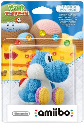 amiibo Yoshi's Woolly World Character - Yarn Yoshi light-blue