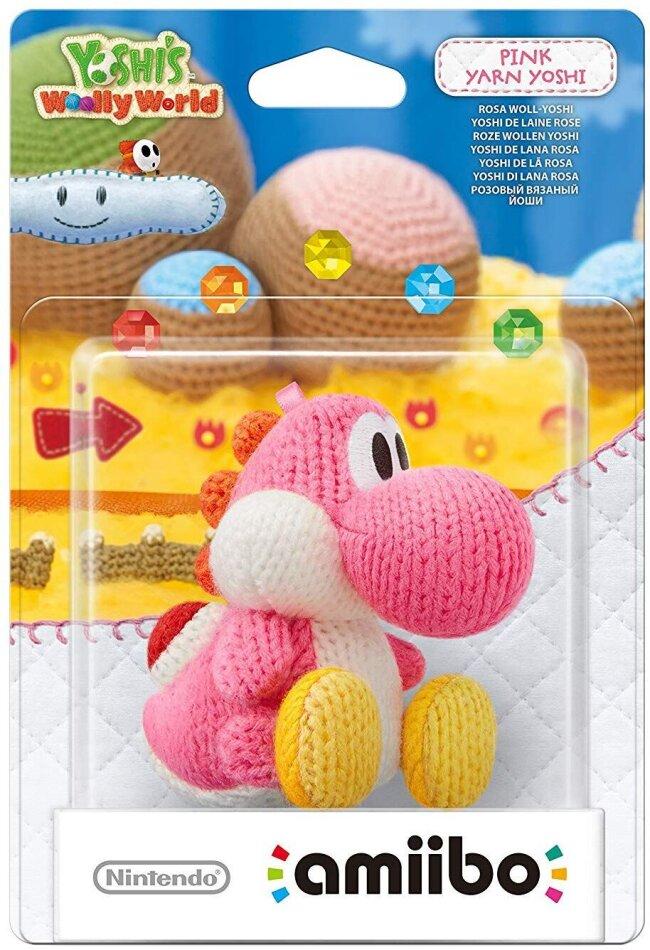 amiibo Yoshi`s Woolly World Character - Yarn Yoshi pink