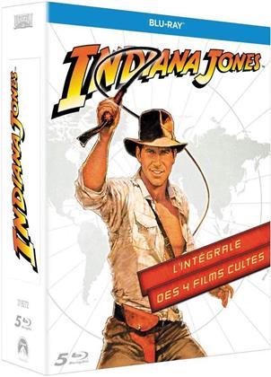 Indiana Jones - L'intégrale des 4 films cultes (5 Blu-ray)