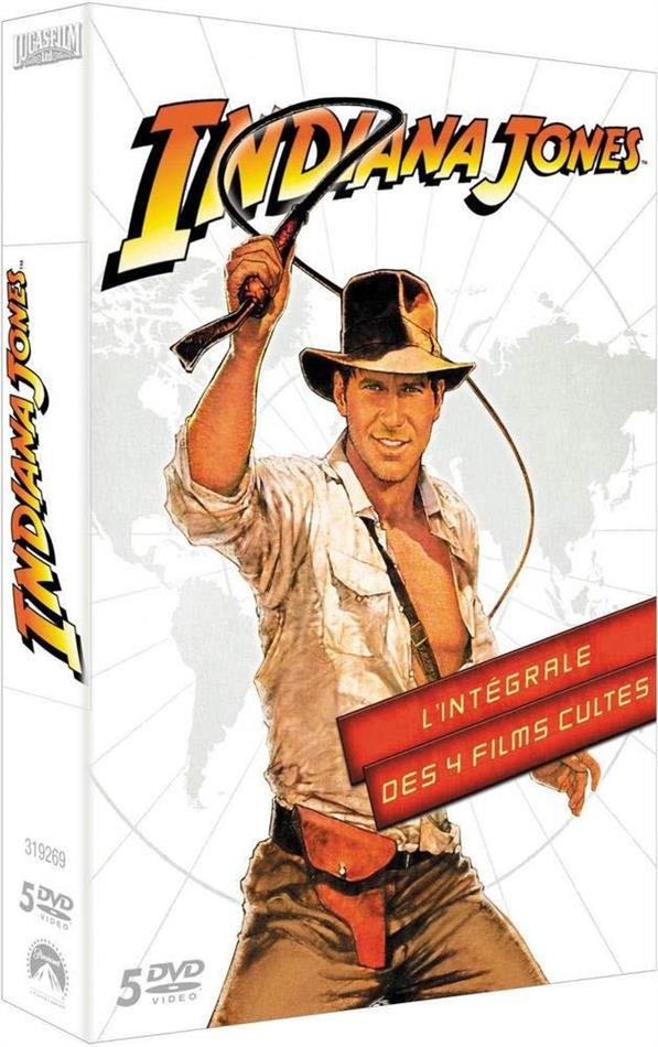 Indiana Jones - L'intégrale des 4 films cultes (5 DVD)