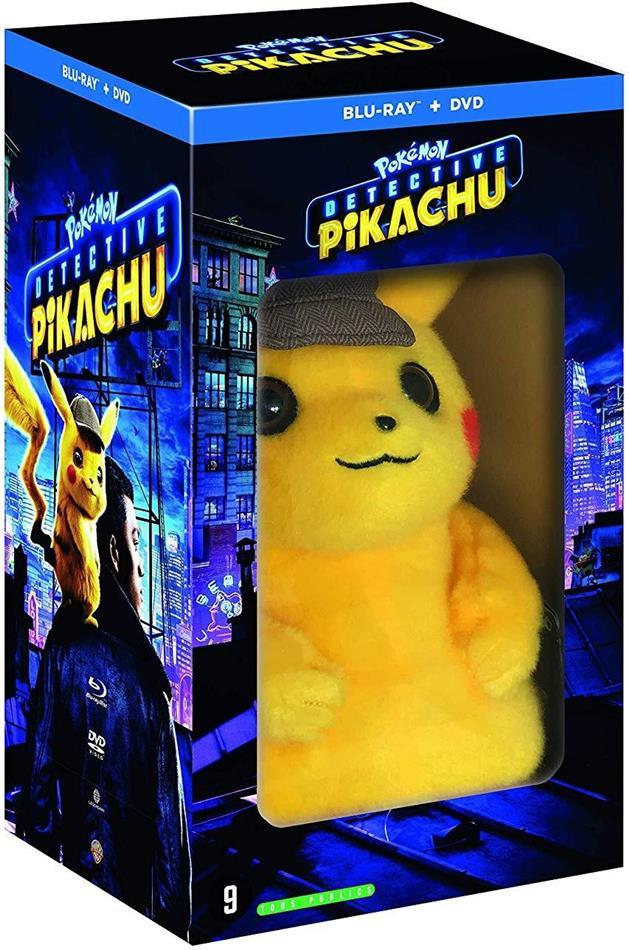Detective Pikachu - Pokémon (2019) (Peluche, Limited Edition, Blu-ray + DVD)