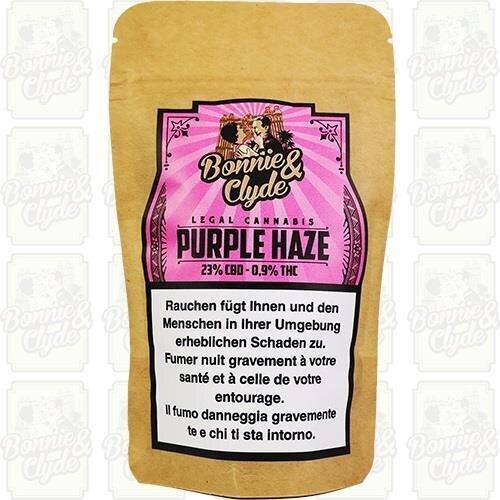 Bonnie & Clyde Purple Haze (8.4g) - (23% CBD 0.9% THC)